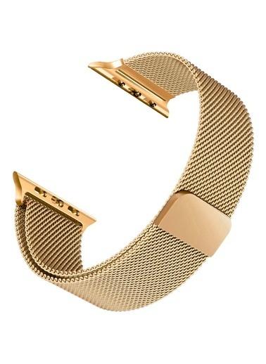 Jacobson Apple Watch 42-44mm Milano Hasır Çelik Kayış Altın